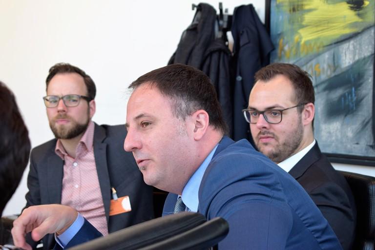 Julius Lehmann KBV, René Klinke vdek, Jan Hortig Referent Dr. Roy KühneKühne