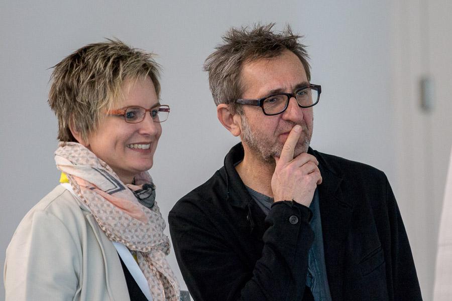 Ute Rothenhöfer und Thomas Dietz beim 2. Süddeutschen Logopädietag in Stuttgart 2017